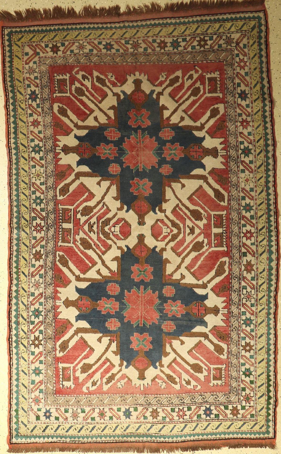 Kars Kazak, Türkei, ca. 50 Jahre, Wolle aufWolle, ca. 240 x 153 cm, EHZ: 3