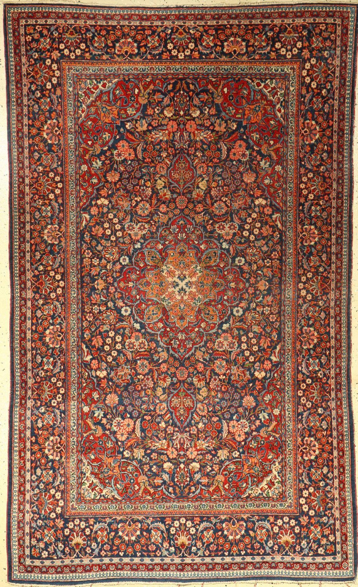 Keschan Kork alt, Persien, um 1930/1940, Korkwolle, ca. 216 x 134 cm, EHZ: 3