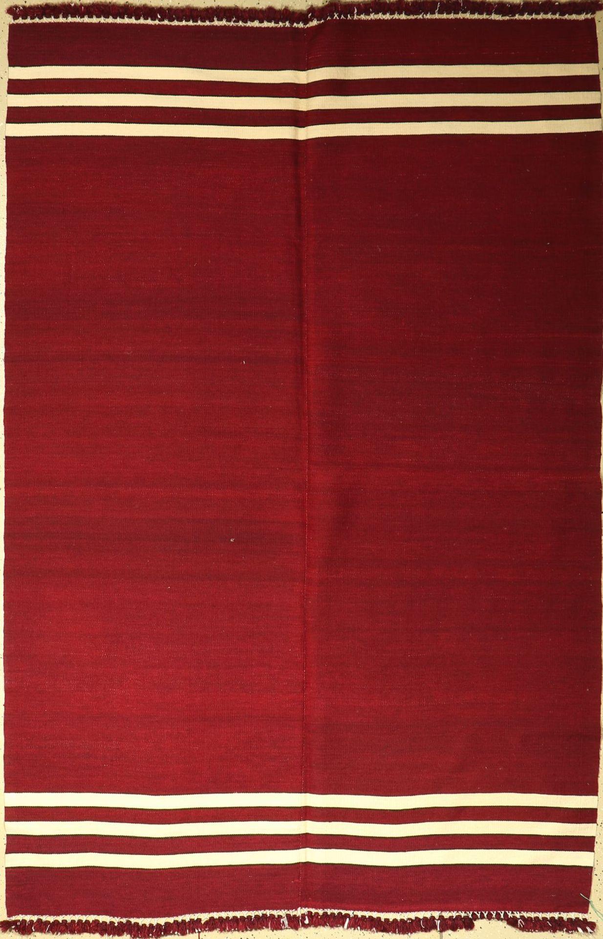 Anatolischer Kelim alt, Türkei, um 1960, Wolle auf Wolle, ca. 240 x 163 cm, dekorativ, EHZ: 2