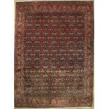 Bidjar Kork fein, Persien, ca. 30 Jahre, Korkwolle, ca. 344 x 254 cm, EHZ: 2, (verblaßt)