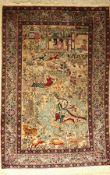 Kashmir alt, Indien, ca. 60 Jahre, Wolle auf Baumwolle, ca. 188 x 124 cm, EHZ: 2