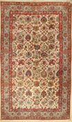 Ghom Kork alt, Persien, ca. 60 Jahre, Korkwolle, ca. 330 x 194 cm, seltenes Format, EHZ: 2