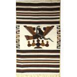 Südamerika Decke alt, um 1950, Wolle auf Wolle, ca. 214 x 128 cm, EHZ: 2