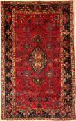 Sarogh Mohajeran antik, Persien, um 1900, Korkwolle, ca. 192 x 118 cm, EHZ: 3(getuschterGrund)