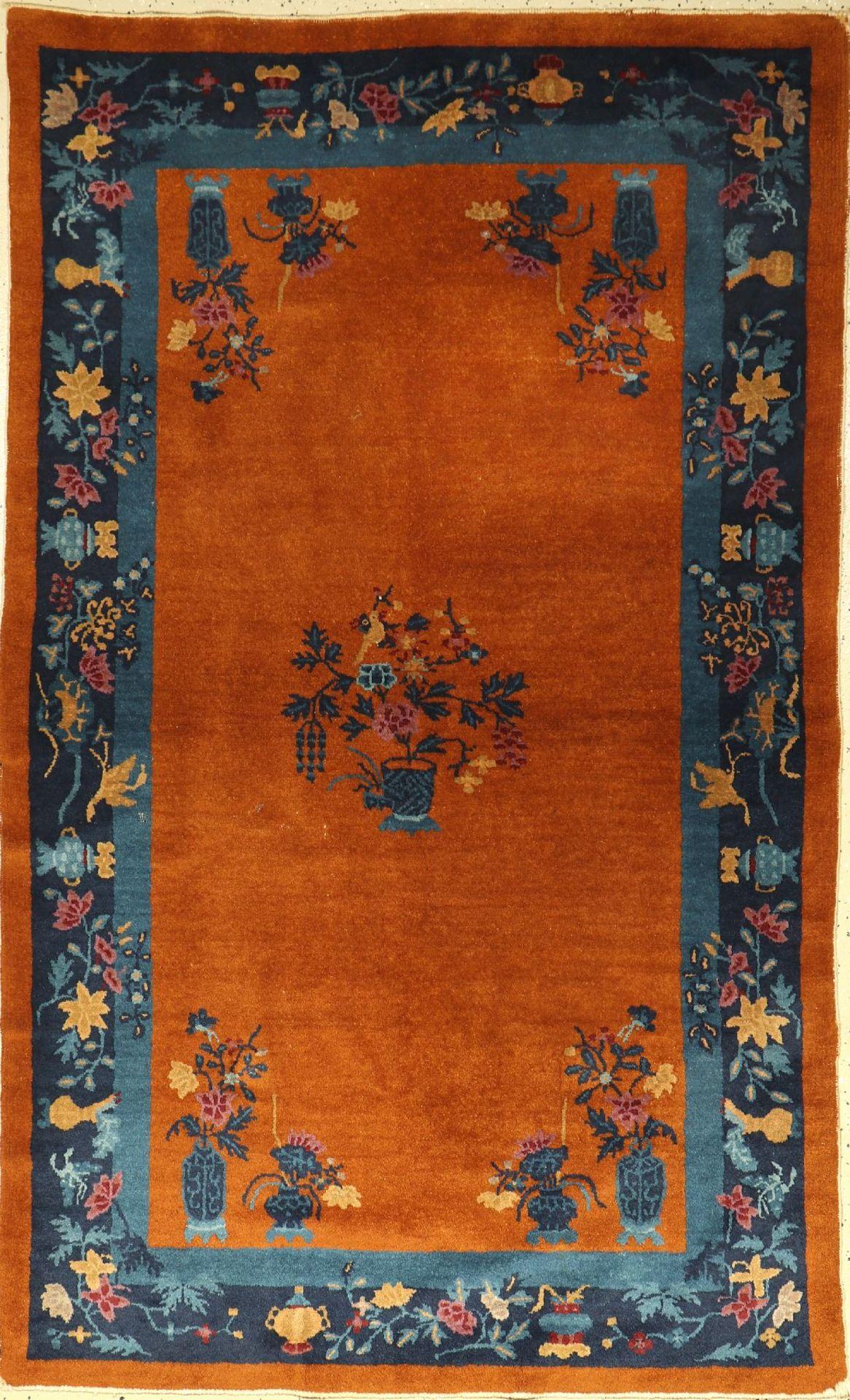 Peking antik, China, um 1910/1920, Korkwolle, ca. 205 x 130 cm, EHZ: 2-3