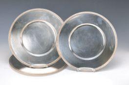 10 Platzteller, Christofle Paris, Metall versilbert, Malmaison, Gebrauchsspuren, D. ca. 30 cm9 under