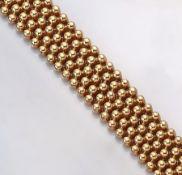 14 kt Gold Armband, GG 585/000, total ca. 65.7 g, L. ca. 45 cm, Meistermarke unged., Kastenschloß