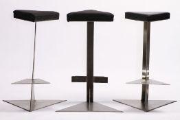 3 Barhocker als Skulpturen, 1980er Jahre, Entwurf u. Ausführung von u. durch den Künstler Andreas