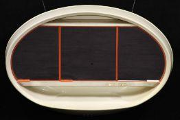 """Vintage Spiegelschrank, """"Curver"""", Rijen Holland, 1970er-Jahre, Modell: Mirovale, typisch Space"""