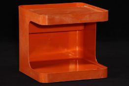 "Barwagen, ""Longato Italia"", 1970er-Jahre, Modell: Game, Design by Marcello Siard, Kunststoff orange,"