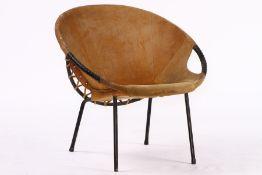 """Circle Balloon Chair, """"Lusch & Co"""", Deutschland, 1960er-Jahre, Gestell schwarz lackiert, dieses"""