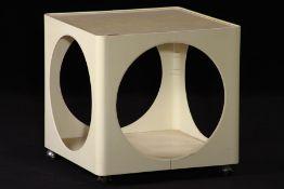 Vintage Beistelltisch, Space Age, 1970er Jahre, aus weißem Kunststoff gefertigt, futuristisches