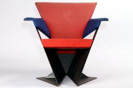 """Stuhlskulptur """"Faltsessel"""", 1980er Jahre, Entwurf u. Ausführung von u. durch den Künstler Andreas"""
