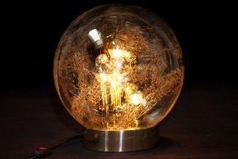 """""""Sputnik"""" Tischlampe, """"Doria"""", Deutschland, 1970er Jahre, Messing poliert u. Metall verchromt, große"""
