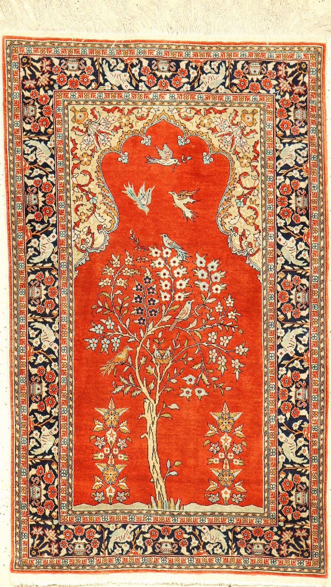 Kaisery Seide, Türkei, ca. 40 Jahre, reine Naturseide, ca. 138 x 83 cm, EHZ: 2Kaisery silk,