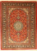 Ghom Kork fein, Persien, ca. 30 Jahre, Korkwolle, ca. 146 x 110 cm, EHZ: 2Qom fine, Persia,