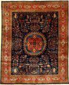 Indo Sarogh fein, Indien, ca. 40 Jahre, Korkwolle, ca. 282 x 229 cm, Naturfarben, EHZ:2Indo Saruk