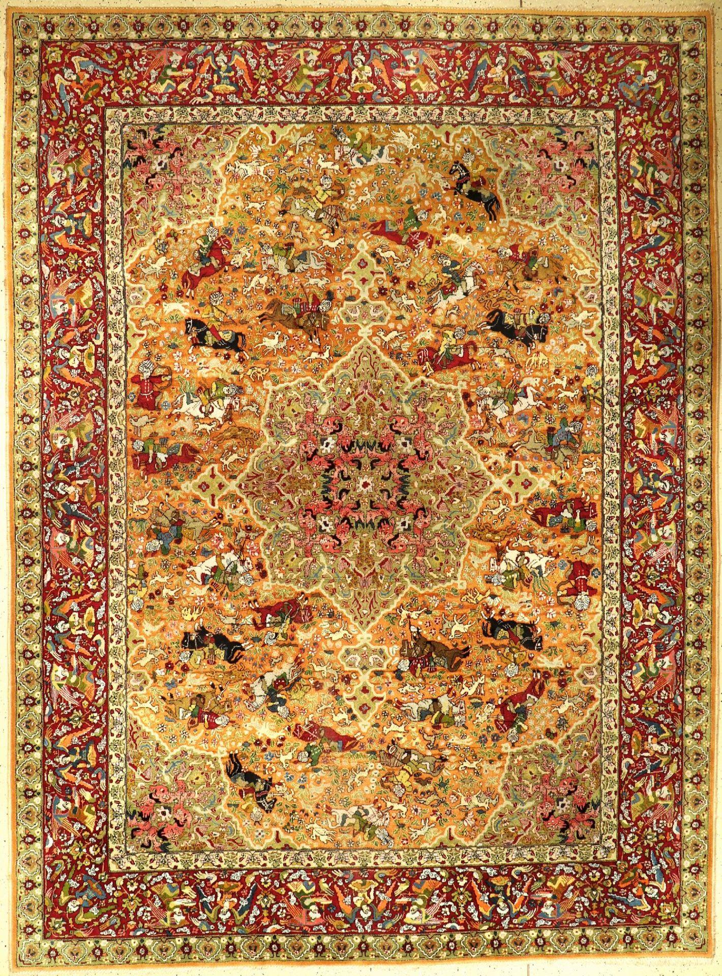 Tetex alt (Safavid Design), Deutschland, um1930, Wolle auf Baumwolle, ca. 337 x 250 cm, schöne