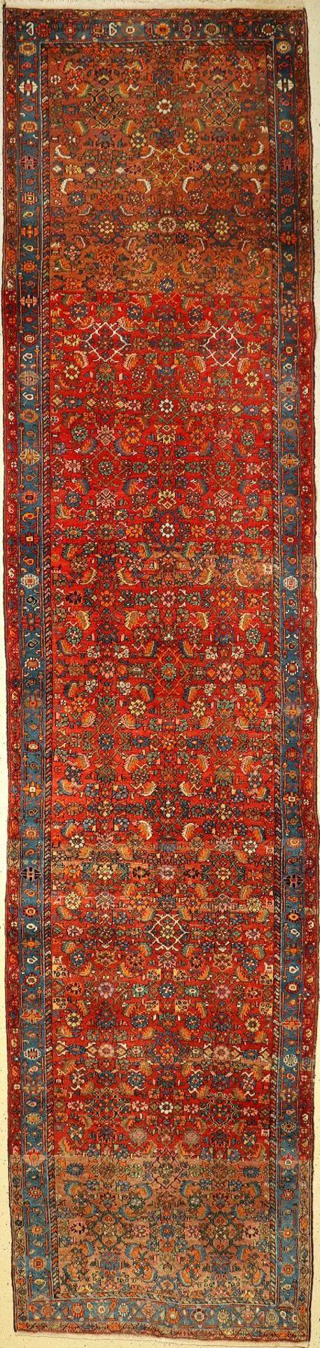 Bidjar, Persien, ca. 40 Jahre, Wolle auf Baumwolle, ca. 490 x 112 cm, EHZ: 3Bidjar, Persia,
