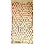 Marokko alt, um 1970, Wolle auf Baumwolle, ca. 330 x 170 cm, dekorativ, EHZ: 2Morocco old, around