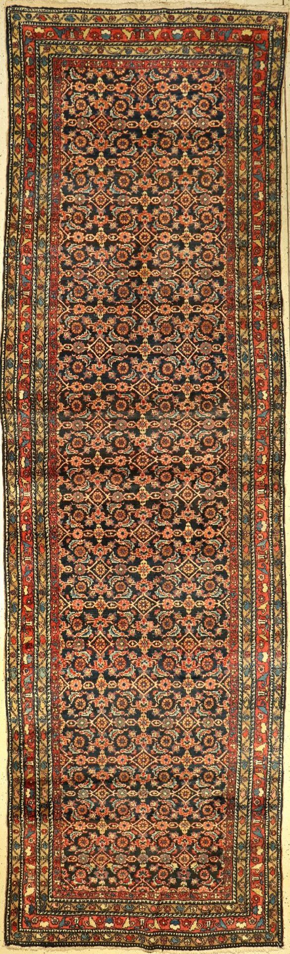 Hamadan, Persien, um 1940, Wolle auf Baumwolle, ca. 440 x 126 cm, EHZ: 3Hamadan, Persia, around