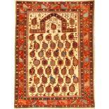 Feiner Azeri Schirwan, Azeri, ca. 30 Jahre,Wolle auf Baumwolle, ca. 166 x 122 cm, Marasali Design,