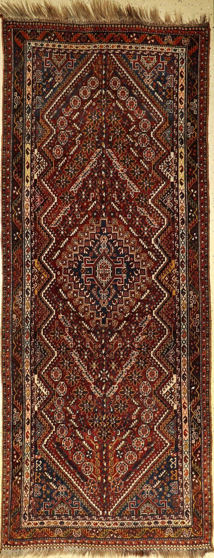 Schiraz, Persien, um 1940, Wolle auf Wolle,ca. 307 x 122 cm, EHZ: 3Shiraz, Persia, around 1940, wool