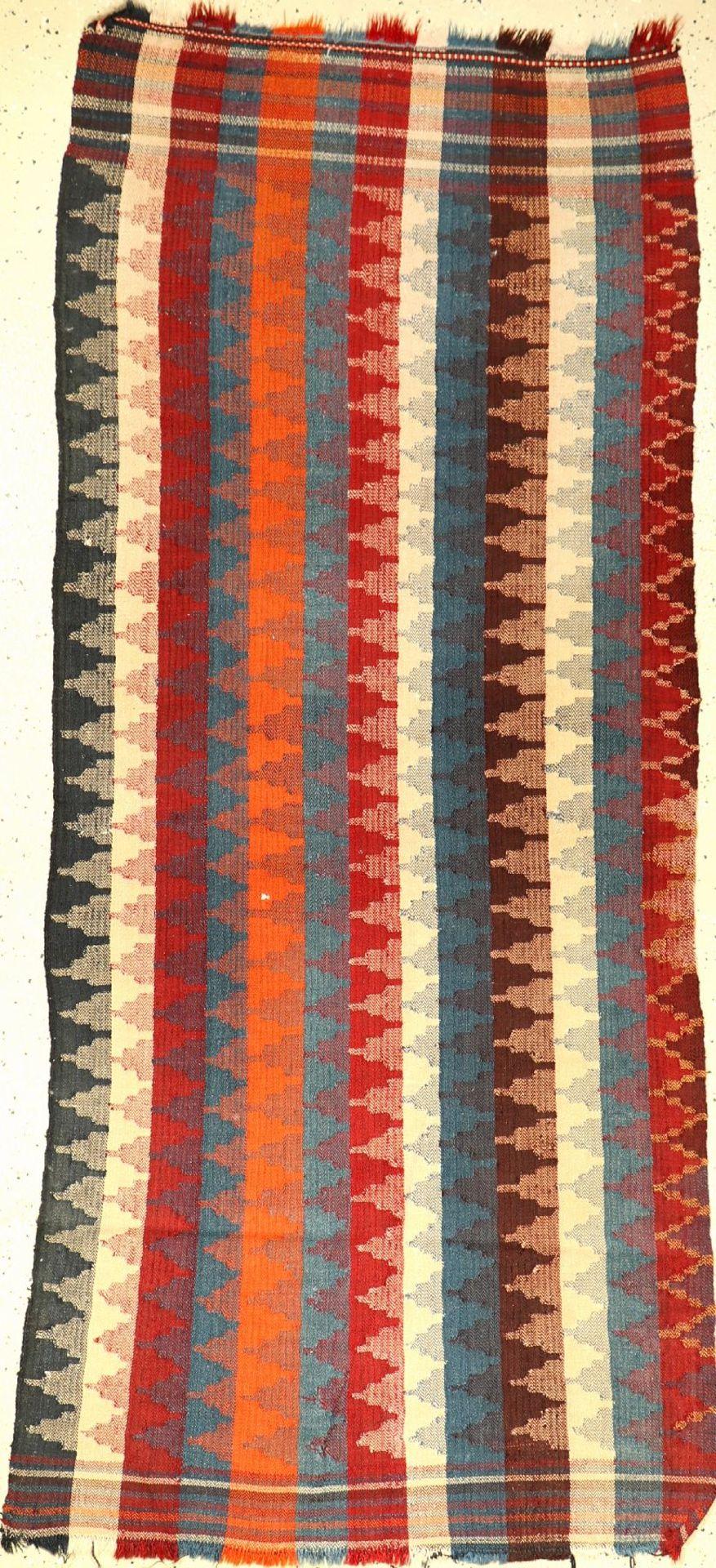 Gashgai-Moj Kelim alt, Persien, um 1940, Wolle auf Wolle, ca. 202 x 94 cm, EHZ: 2-3Gashgai-Moj Kilim