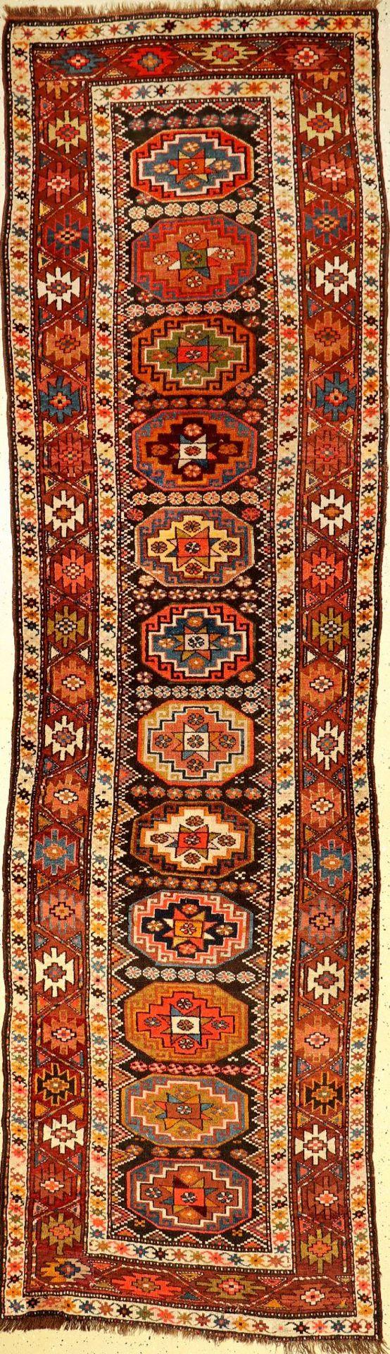 Karabagh alt, Kaukasus, um 1920, Wolle auf Wolle, ca. 355 x 104 cm, EHZ: 3Karabagh old, Caucasus,