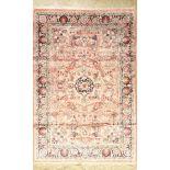 China Seide, ca. 40 Jahre, Naturseide auf Baumwolle, ca. 180 x 123 cm, EHZ: 2China silk, approx.