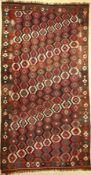 Veramin, Persien, um 1920, Wolle auf Wolle,EHZ: 2, Kelim, ca. 355 x 180 cmVeramin Kilim, Persia,