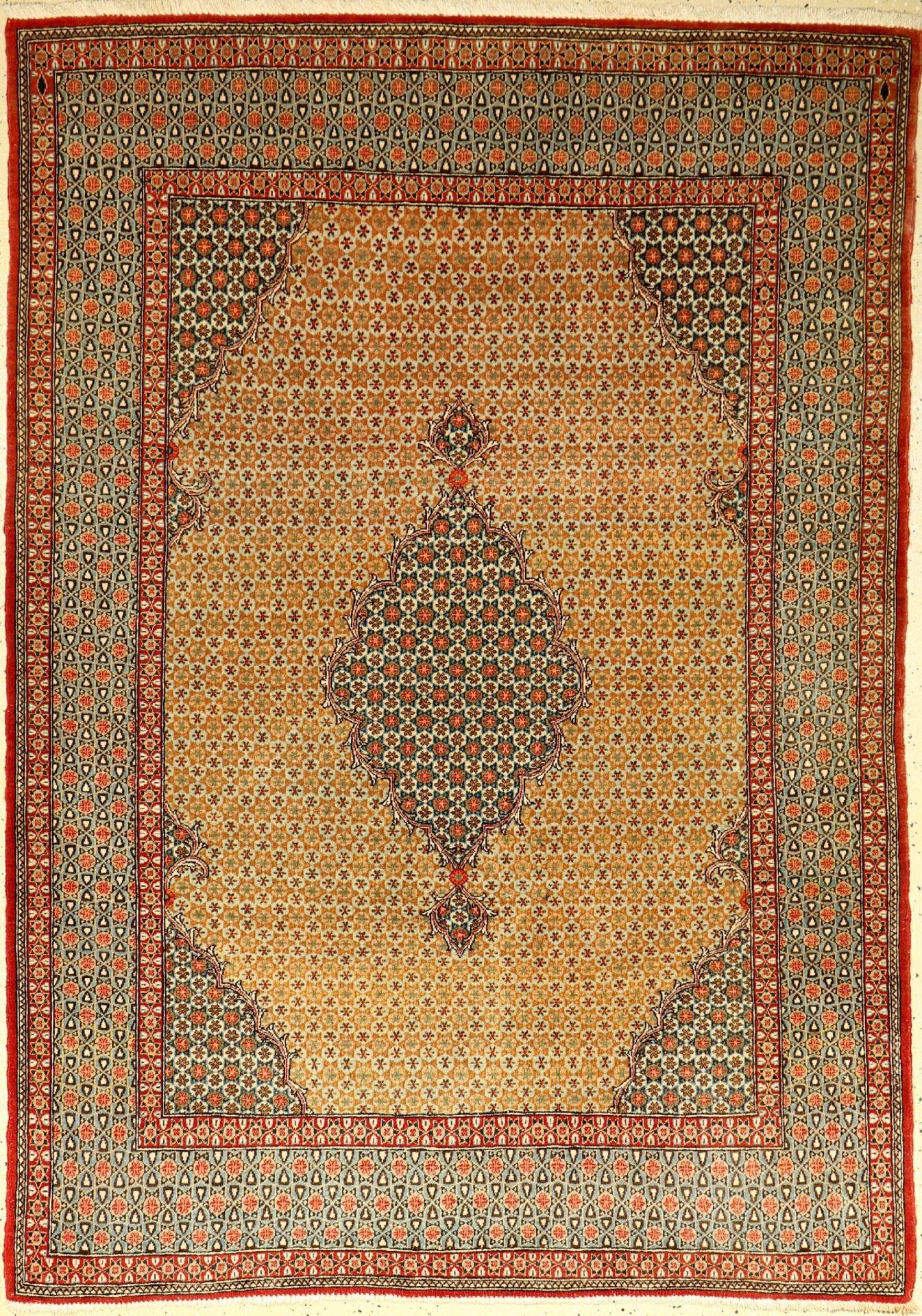 Ghom alt, Persien, ca. 60 Jahre, Korkwolle mit Seide, ca. 195 x 140 cm, EHZ: 2-3Qom old, Persia,