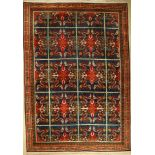 Drachenteppich alt, Mongolai, um 1940/1950,Wolle auf Baumwolle, ca. 392 x 275 cm, sehr dekorativ,
