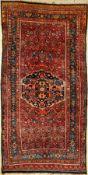 Bidjar alt, Persien, um 1920, Wolle auf Baumwolle, ca. 375 x 188 cm, seltenes Format, dekorativ,