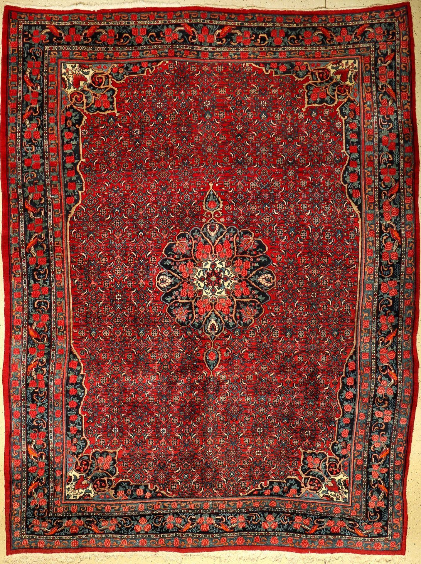Bidjar alt, Persien, ca. 60 Jahre, Wolle auf Baumwolle, ca. 365 x 284 cm, EHZ: 2-3Bidjar old,