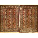 1 Paar Ghom alt, Persien, ca. 60 Jahre, Wolle auf Baumwolle, ca. 201 x 137 cm, EHZ: 31 pair of Qom
