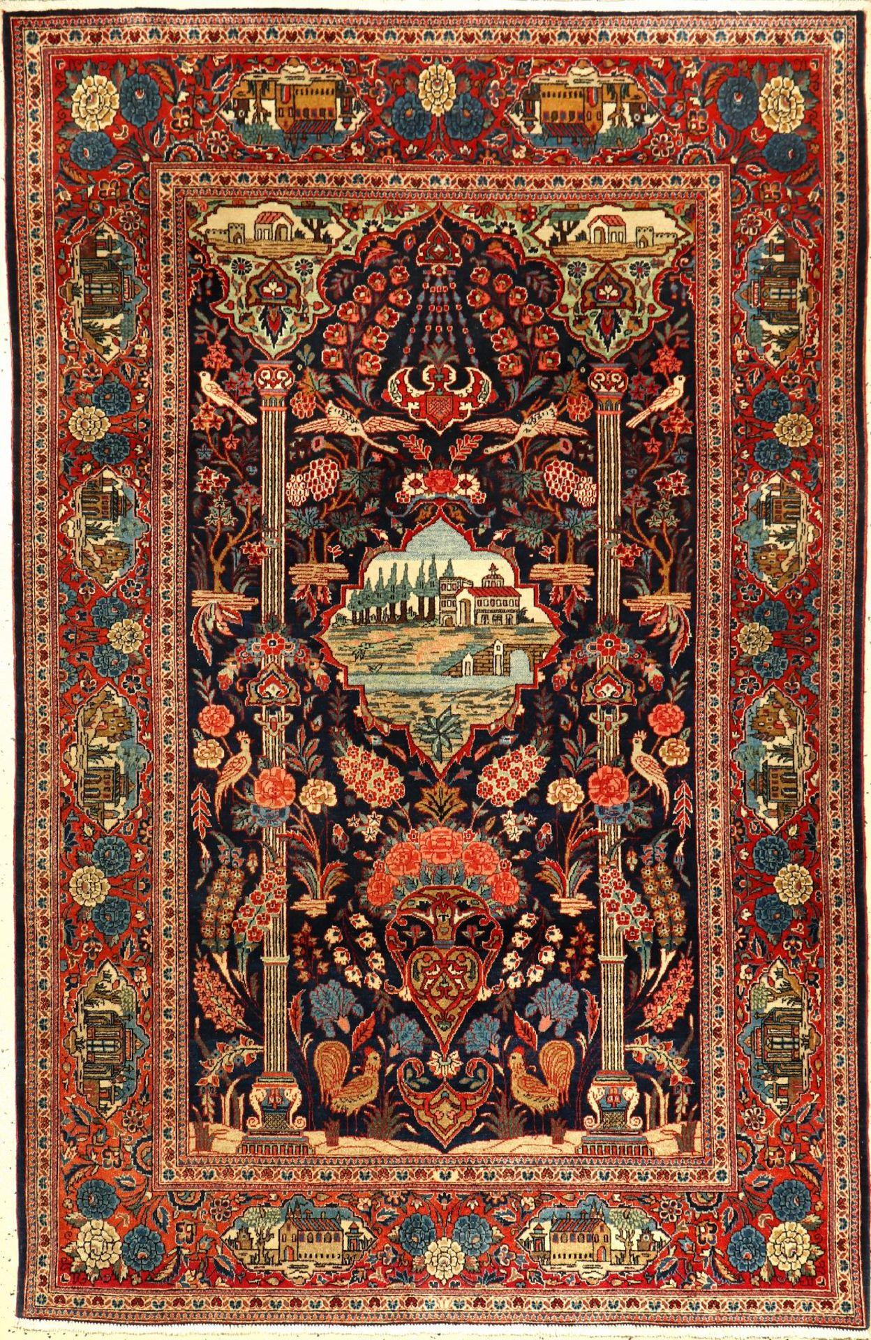 Keschan Kork alt, Persien, um 1930, Korkwolle, ca. 206 x 134 cm, EHZ: 2, seltenKeschan old,
