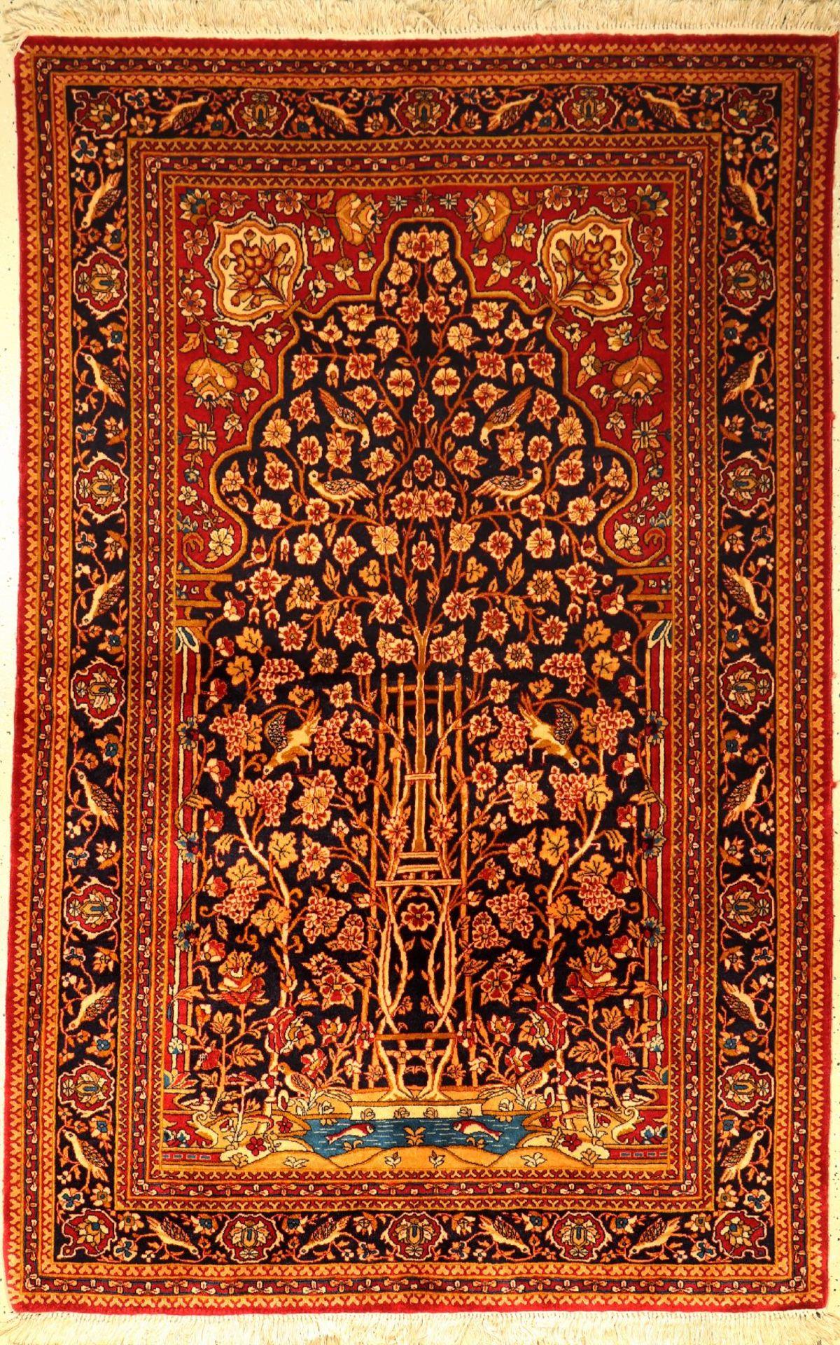 Yazd Sherkat, Persien, ca. 30 Jahre, Korkwolle, ca. 220 x 142 cm, EHZ: 2Yazd Sherkat, Persia,