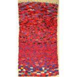 Marokko alt, um 1970, Stoff auf Baumwolle, ca. 236 x 124 cm, dekorativ, EHZ: 2Morocco old, around