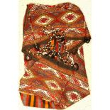 Shahsavan Mafrasch antik, Persien, um 1930,Wolle auf Wolle, ca. 105 x 46 cm, vollständig,EHZ: 2-