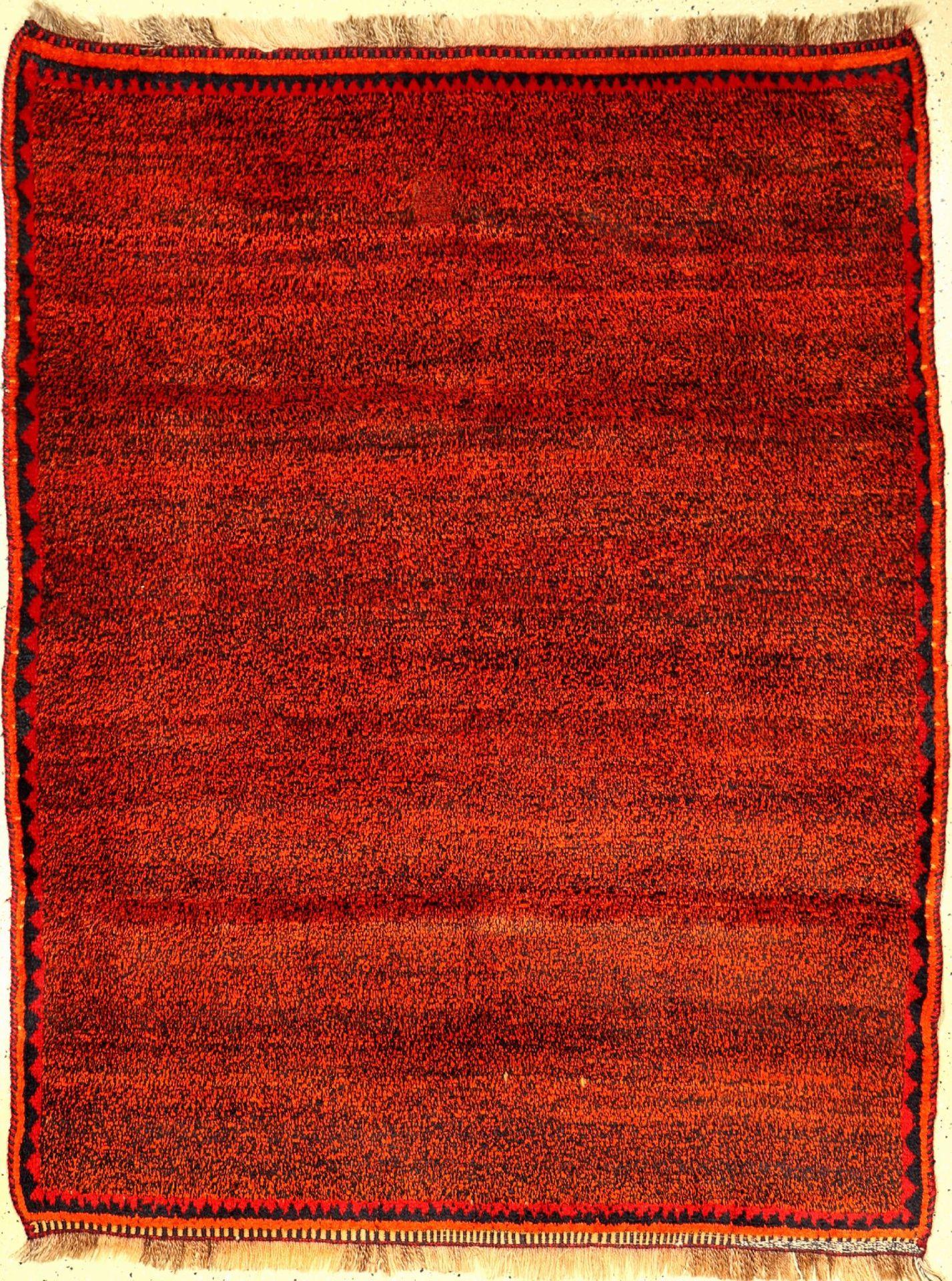 Gabbeh alt (Publiziert), Persien, um 1940/1950, Wolle auf Wolle, ca. 172 x 136 cm, EHZ: 2-3Gabbeh