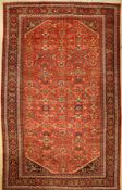 Großer Mahal antik, Persien, um 1900/1920, Wolle auf Baumwolle, ca. 525 x 320 cm, (Altersund