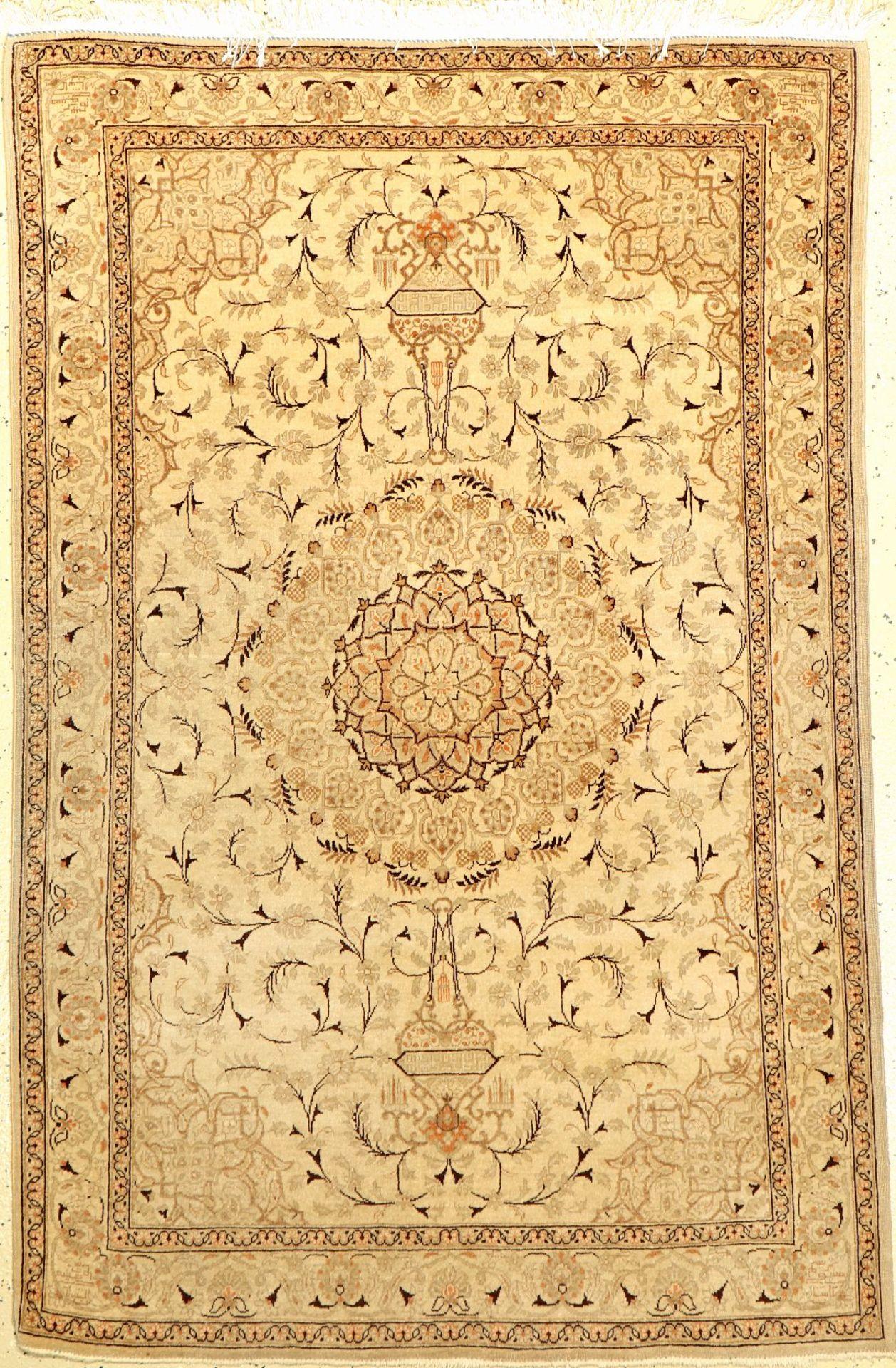 Keschan alt, Persien, ca. 60 Jahre, Wolle auf Baumwolle, ca. 158 x 105 cm, EHZ: 3-4Keschan old,