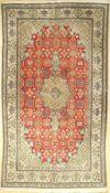 Nain fein, Persien, ca. 40 Jahre, Korkwollemit Seide, ca. 286 x 165 cm, EHZ: 2-3Nain fine, Persia,
