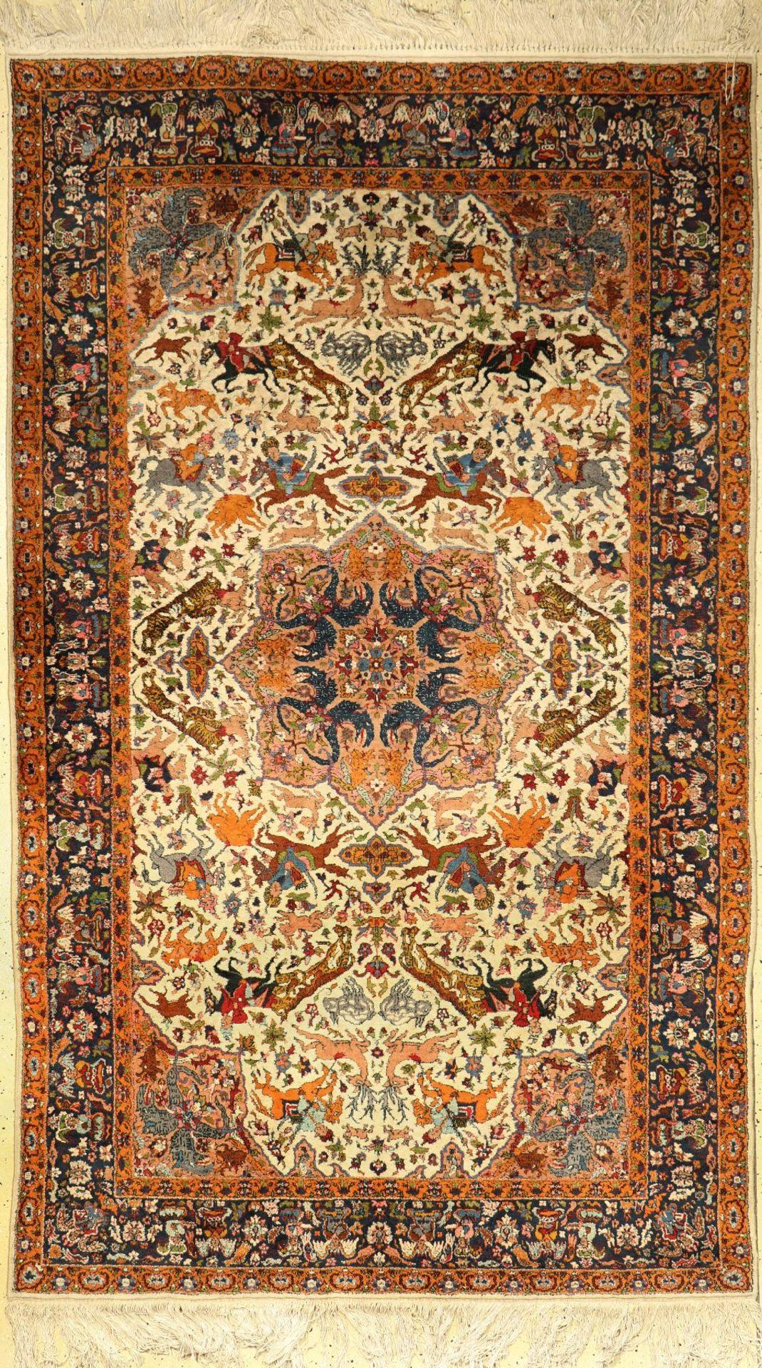 Indo, Indien, ca. 60 Jahre, Wolle auf Baumwolle, ca. 260 x 153 cm, EHZ: 3Meymeh, Persia, approx.