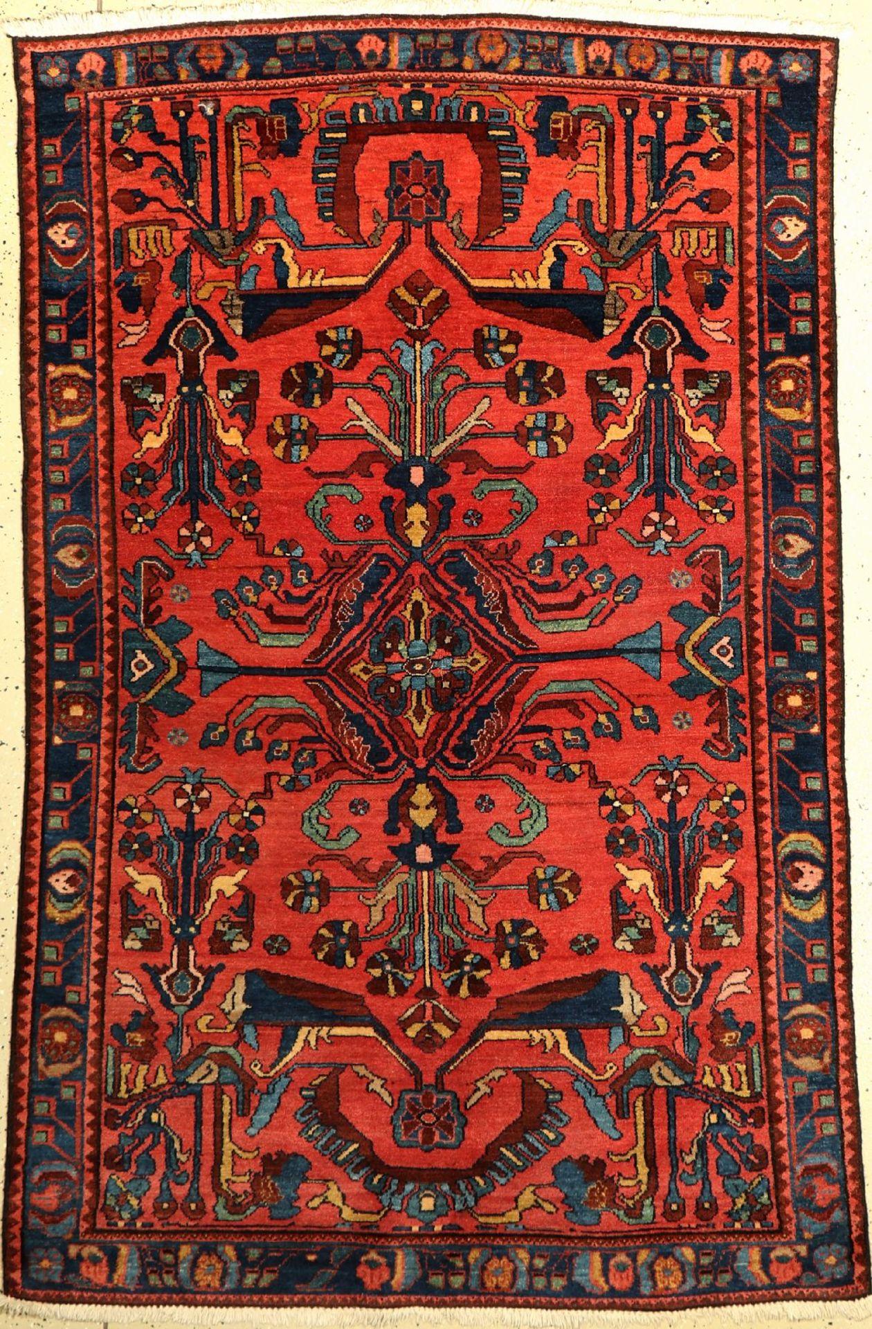 Lilian, Persien, um 1920, Wolle auf Baumwolle, ca. 198 x 130 cm, EHZ: 2Lilian rug, Persia, around