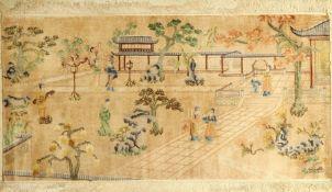 Seiden China alt, China, ca. 40 Jahre, reine Naturseide, ca. 180 x 93 cm, EHZ: 2Silk china old,