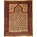 Schirwan Gebetsteppich antik, Kaukasus, Ende 19.Jhd., Wolle auf Wolle, ca. 164 x 140 cm, feine