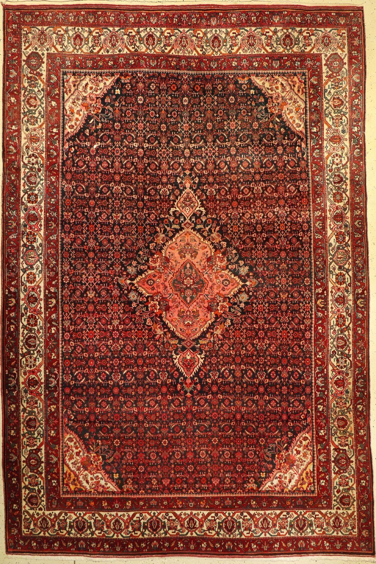 Bidjar, Persien, ca. 60 Jahre, Wolle auf Baumwolle, ca. 335 x 225 cm, EHZ: 2Bidjar, Persia,