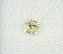 Loser Diamant, 0.71 ct Natural fancy yellow/vvs1, im Kissenschliff, 4.86 x 4.75 x 3.71 mm, mit HRD-